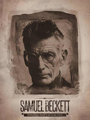 Samuel Beckett 01 Poster by Afterdarkness