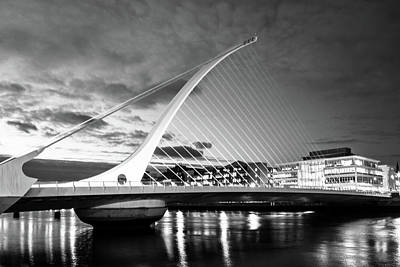 Samuel Beckett Bridge In Bw Poster