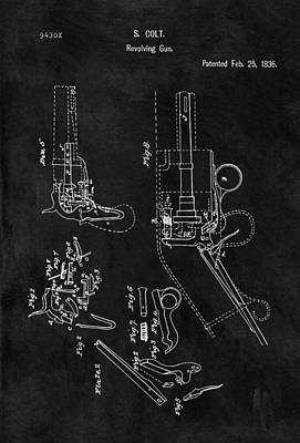 Samuel Colt 1836 Revolver Patent Poster by Dan Sproul