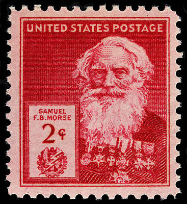 Samuel F B Morse Postage Stamp Poster by James Hill