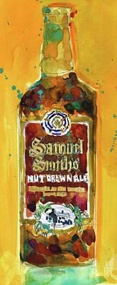 Samuel Smith Nut Brown Ale Beer Bottle Poster