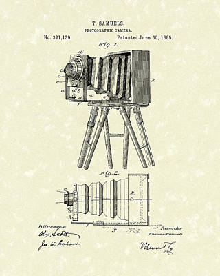 Samuels Photographic Camera 1885 Patent Art Poster by Prior Art Design