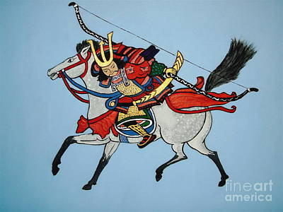 Poster featuring the painting Samurai Rider by Stephanie Moore