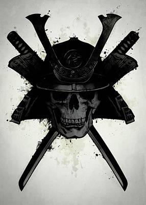 Samurai Skull Poster
