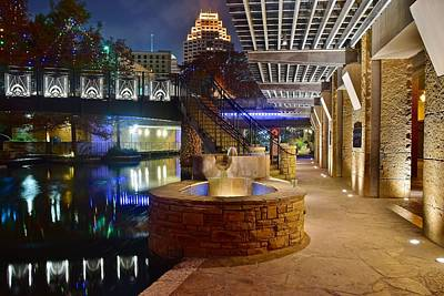 San Antonio River Walk Poster by Frozen in Time Fine Art Photography