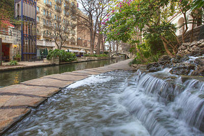 San Antonio Riverwalk Morning Poster
