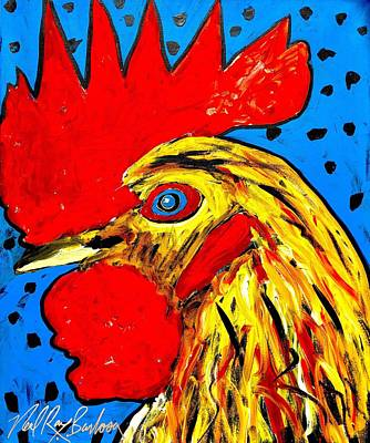 San Antonio Rooster Poster