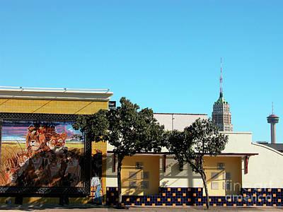 San Antonio Skyline Poster by Thomas R Fletcher