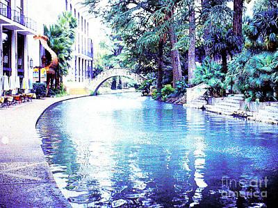 San Antonio Texas  River Walk Poster
