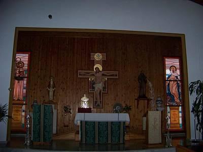 San Bernardo Abad,la Virgen Milagrosa Poster