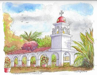 San Clemente Mission Parish, Bakersfield, California Poster by Carlos G Groppa