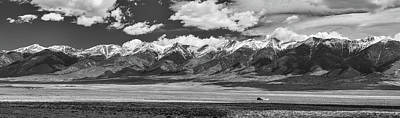 San De Cristo Mountains Panorama In Black And White Poster by James BO Insogna