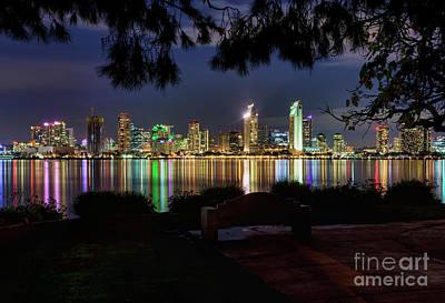 San Diego Skyline Poster by Eddie Yerkish