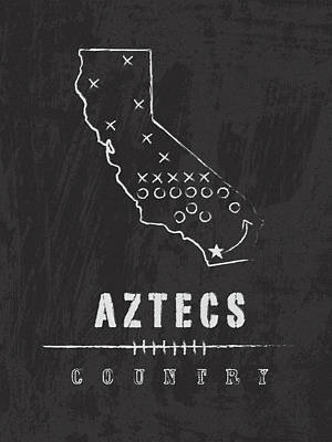 San Diego State Aztecs Country Poster by Damon Gray