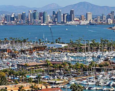 San Diego Yacht Club Poster by Russ Harris