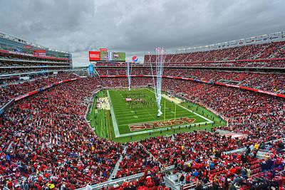 San Francisco 49ers Levi's Stadium Poster by Mark Whitt