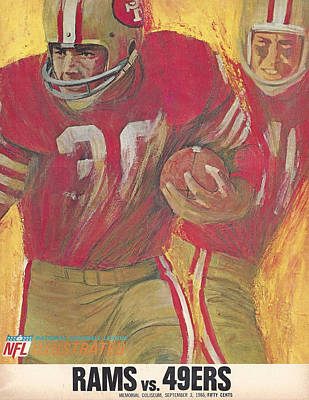 San Francisco 49ers Vintage Program 2 Poster by Joe Hamilton