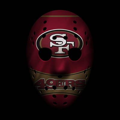 San Francisco 49ers War Mask Poster by Joe Hamilton
