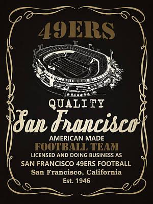 San Francisco 49ers Whiskey 2 Poster by Joe Hamilton