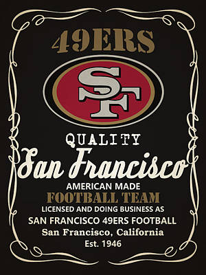 San Francisco 49ers Whiskey Poster by Joe Hamilton