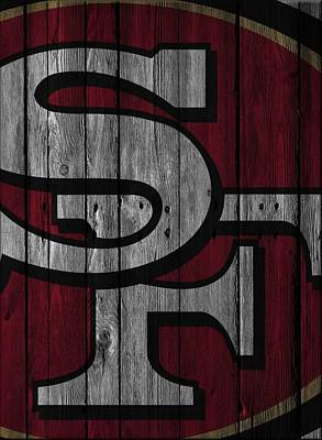San Francisco 49ers Wood Fence Poster
