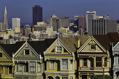 San Francisco And Victorian Houses Poster