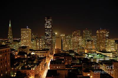 San Francisco At Night Poster