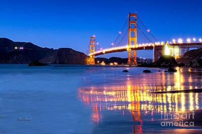 San Francisco Bay Evening Poster by Garland Johnson