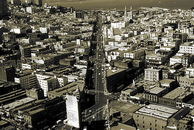 Old San Francisco - Vintage Photo Art Print Poster by Art America Gallery Peter Potter