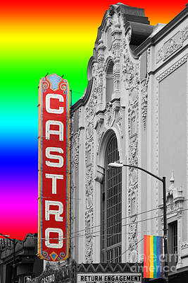 Poster featuring the photograph San Francisco Castro Theater . 7d7579 by Wingsdomain Art and Photography