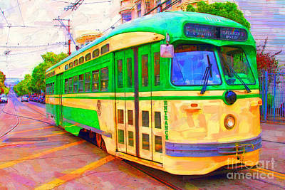 San Francisco F-line Trolley Poster by Wingsdomain Art and Photography