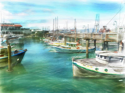 San Francisco Fishing Boats Poster