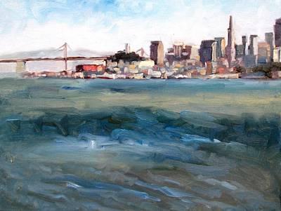 San Francisco From Marin Poster by Deborah Cushman