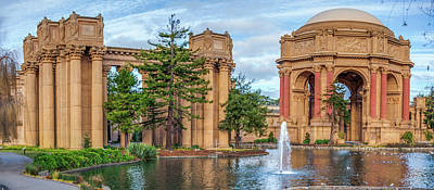 San Francisco Palace Of Fine Arts Panorama Poster by Gregory Ballos
