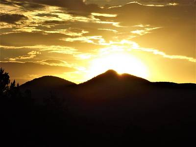 San Francisco Peaks At Sunset Poster