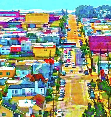 San Francisco Quintara View Poster