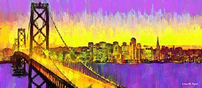 San Francisco Skyline 53 - Da Poster by Leonardo Digenio