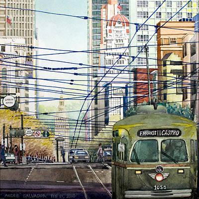 San Francisco Spaghetti Above Market Street Poster