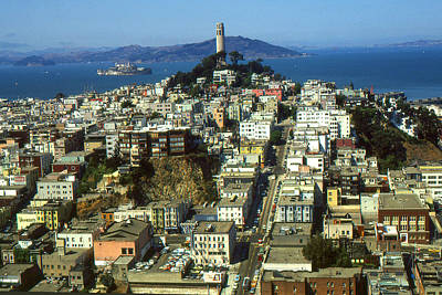 San Francisco - Telegraph Hill And Alcatraz Poster