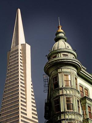 San Francisco Then And Now Poster