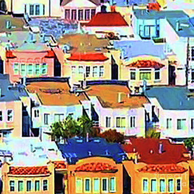 San Francisco Urban Houses 20170901 Square V2 Poster