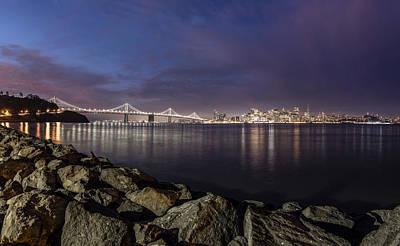 San Fransico Skyline From Treasure Island  Poster by John McGraw