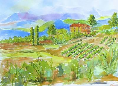 Vineyard At San Gimignano Poster