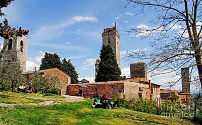 San Gimignano - Toscana - Italia - Rocca Di Montestaffoli Poster by Carlos Alkmin