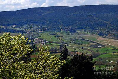 San Gimignano Valley Tuscany Italy - Toscana Italia Poster by Carlos Alkmin