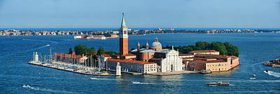 Poster featuring the photograph San Giorgio Maggiore Island Panorama by Songquan Deng