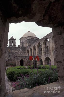 San Jose Mission Courtyard San Antonio Texas  Poster
