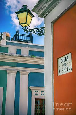 San Juan City Light Poster by Mariola Bitner