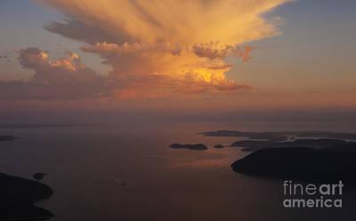 San Juan Islands Aerial Thunderstorm Poster