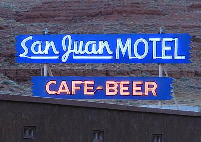 San Juan Motel Sign Poster by Troy Montemayor